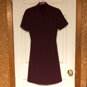 Burgundy Karen Millen Dress Size 2